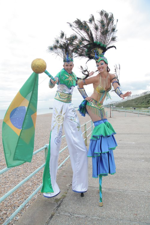 Duo of Carnival Stiltwalkers