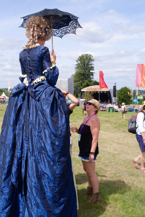 Georgian Lady on stilts