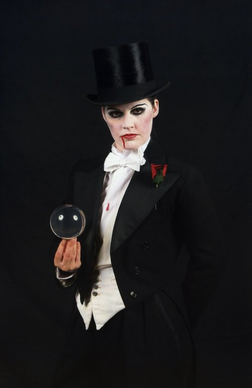 Vampire with crystal ball