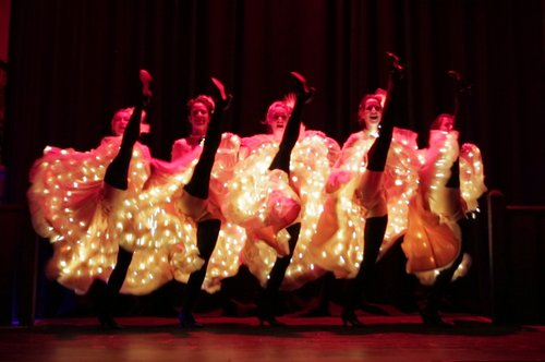 Can Can Dancers illuminated kick