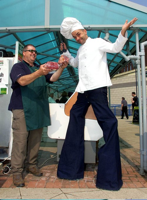 Stilt chef pose