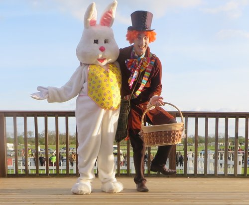 Mad Hatter & Easter Bunny outdoor shot