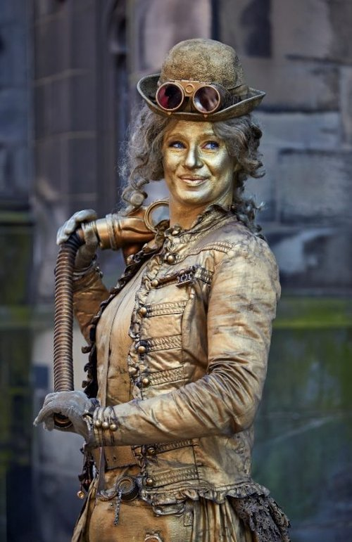 Steampunkt  Copper Lady head shot