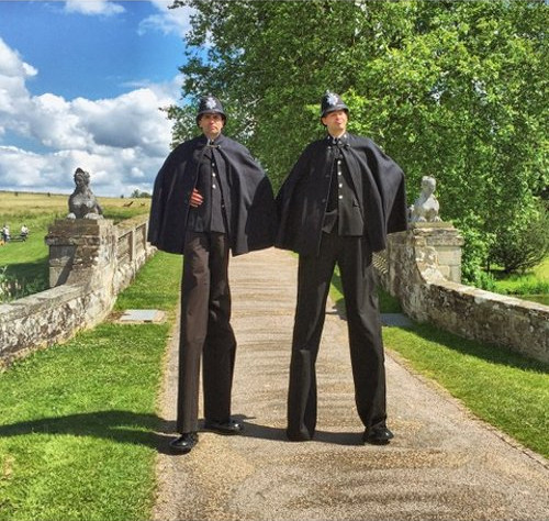 Victorian Policemen outdoor shot