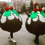 xmas puddings - duo
