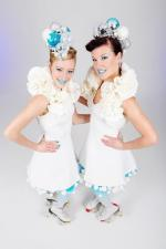 White Bauble Skaters - duo