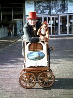 organ grinder with monkey
