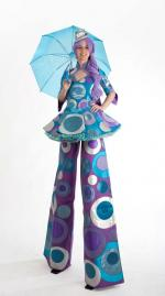 Bubble costume stiltwalker