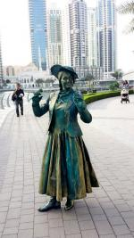edwardian living statue posed