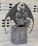 Gargoyle Living Statue - side view