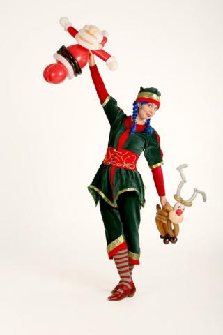 xmas balloon elf