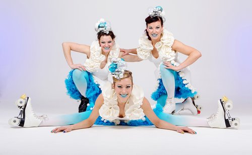 White Bauble Skaters - trio