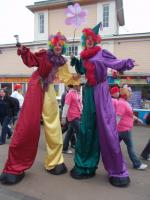Clown Stiltwalkers