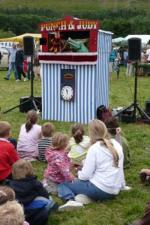 Traditional Punch and Judy croc in show