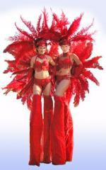 red showgirls studio shot