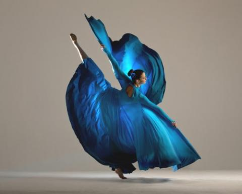 Blue Costume dancer